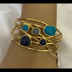 New Gorjana semiprecious stone cuff bangle